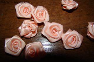 Розы из шелка розовые