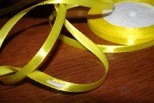 Атласная лента желтая
