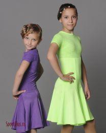Платье для бальных танцев с гипюром
