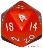 Кубик D 20 Красный