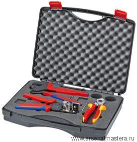 Чемодан с набором инструментов для фотогальваники, 3 предмета, KNIPEX 97 91 01