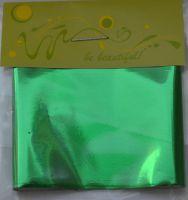 Фольга для дизайна ногтей, литья (переводная). Цвет: глянцевая зеленая (Размер: 4см на 1 метр)