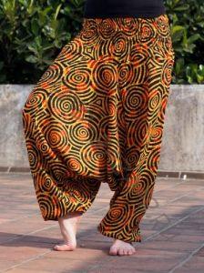 КРАСНЫЕ Женские штаны алладины со спиральками (СПб)