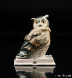 Ушастая сова на книге, Karl Ens, Германия, 1920-30 гг., артикул 00956