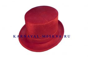 Шляпа цилиндр бархотный