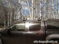 Багажник на крышу Mazda BT-50, Атлант, прямоугольные дуги