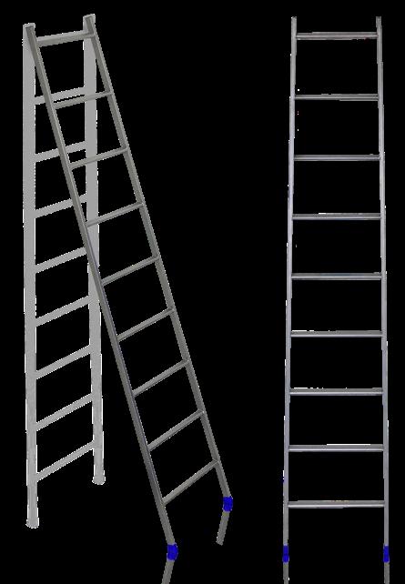 """Лестница приставная 10-ступ. """"Ника""""  2,45 м ,6,7 кг мет. .проф.Л10"""