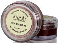 Khadi Herbal Wine GrapeFruit Lip Balm