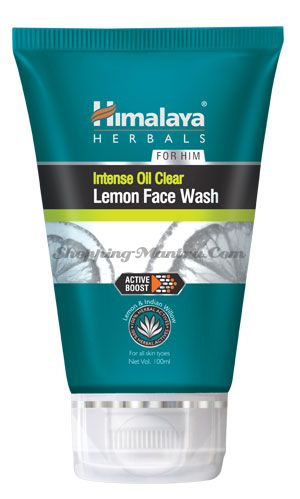 Гель для умывания для мужчин Лимон Хималая / Himalaya Intense Oil Clear Lemon Face Wash