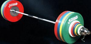Штанга DHS Olympic для соревнований женская 135 кг аттестованная IWF.