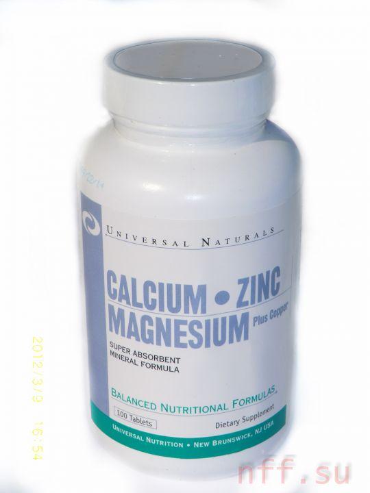 UNIVERSAL - Calcium-Zinc-Magnesium (100 таб)