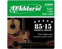 D`ADDARIO EZ890 (009-045) Струны для акустической гитары