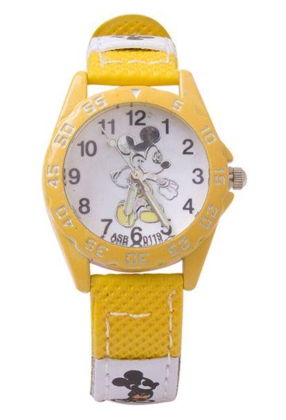 Желтые наручные часы Микки Маус