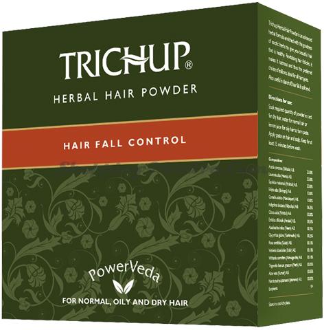 Маска против выпадения волос с натуральной хной Тричуп (Vasu Trichup Herbal Hair Powder)