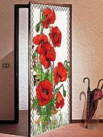Виниловая наклейка на дверь - Вышиванка