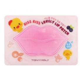 TONY MOLY KISS KISS LOVELY LIP PATCH 10g - гидро-гелевая маска для кожи губ с растительным комплексом