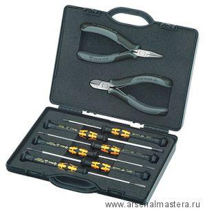 Набор антистатических инструментов для электроники, 8 предметов в практичном кейсе, KNIPEX 00 20 18 ESD