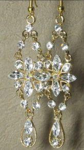 Модные шумящие позолоченные серьги с кристаллами Сваровски