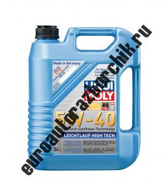 Cинтетическое моторное масло Leichtlauf High Tech 5W-40 5л. (LIQUI MOLY) 8029