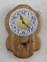 Немецкая овчарка часы настенные Чехия