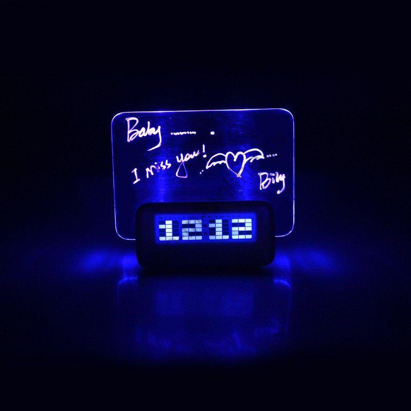 Часы Будильник LED флуоресцентные