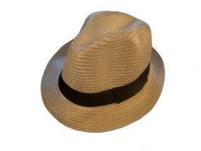 Шляпа белая с черной лнточкой летная унисекс
