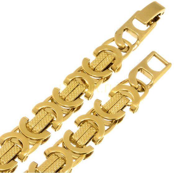 """Стильный позолоченный браслет """"Византия"""", 9 мм (арт. 170122)"""
