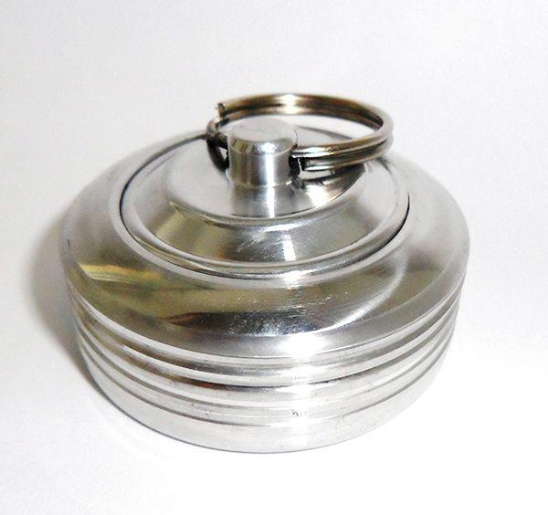 Оснастка металлическая ручная - Брелок-кнопка с кольцом, со штемпельной подушкой