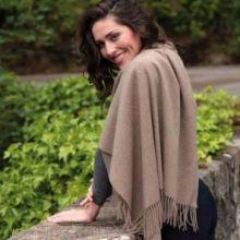 Роскошная классическая шотландская  шаль, высокая плотность, 100 % драгоценный кашемир , расцветка Пшеничный (Золотисто-берёзовый) (премиум)