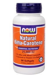 Бета-Каротин 25000МЕ (Beta-Carotene Natural) 90 капс