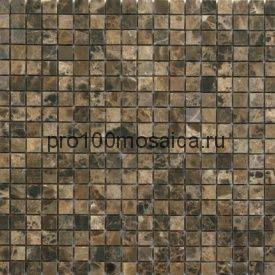 EMPERADOR Dark Pol. 15x15. Мозаика серия STONE, размер, мм: 305*305*4 (ORRO Mosaic)