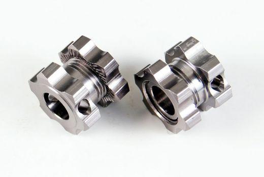 Wheel hex.+Nuts 2P - HSP85711