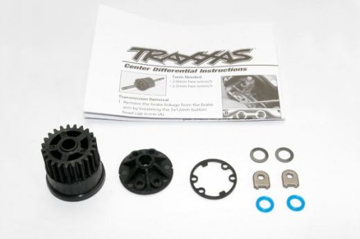 Gear. center differential (Slayer)/ Cover (1) / X-ring seals (2)/ gasket (1)/ 6x10x0.5 TW (2) (Repla - TRA5914X