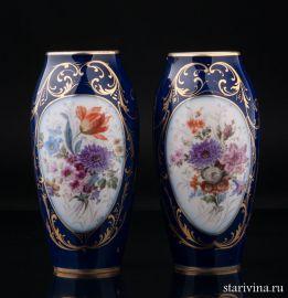 Парные декоративные вазы, Лимож (Limoges), Франция