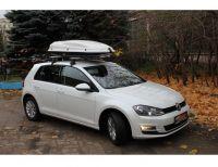 Багажник на крышу Volkswagen Golf, Атлант, аэродинамические дуги, опора Е
