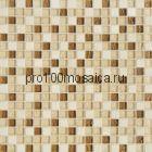 Amber. Мозаика серия GLASSTONE, вид MIX (СМЕСИ),  размер, мм: 300*300 (ORRO Mosaic)