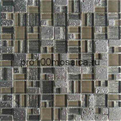 Champane. Мозаика серия GLASSTONE, размер, мм: 305*305 (ORRO Mosaic)