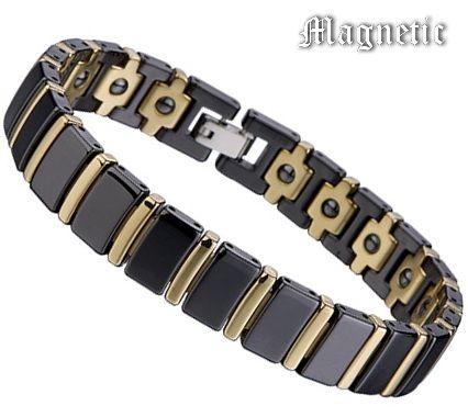 Магнитный браслет из чёрной керамики