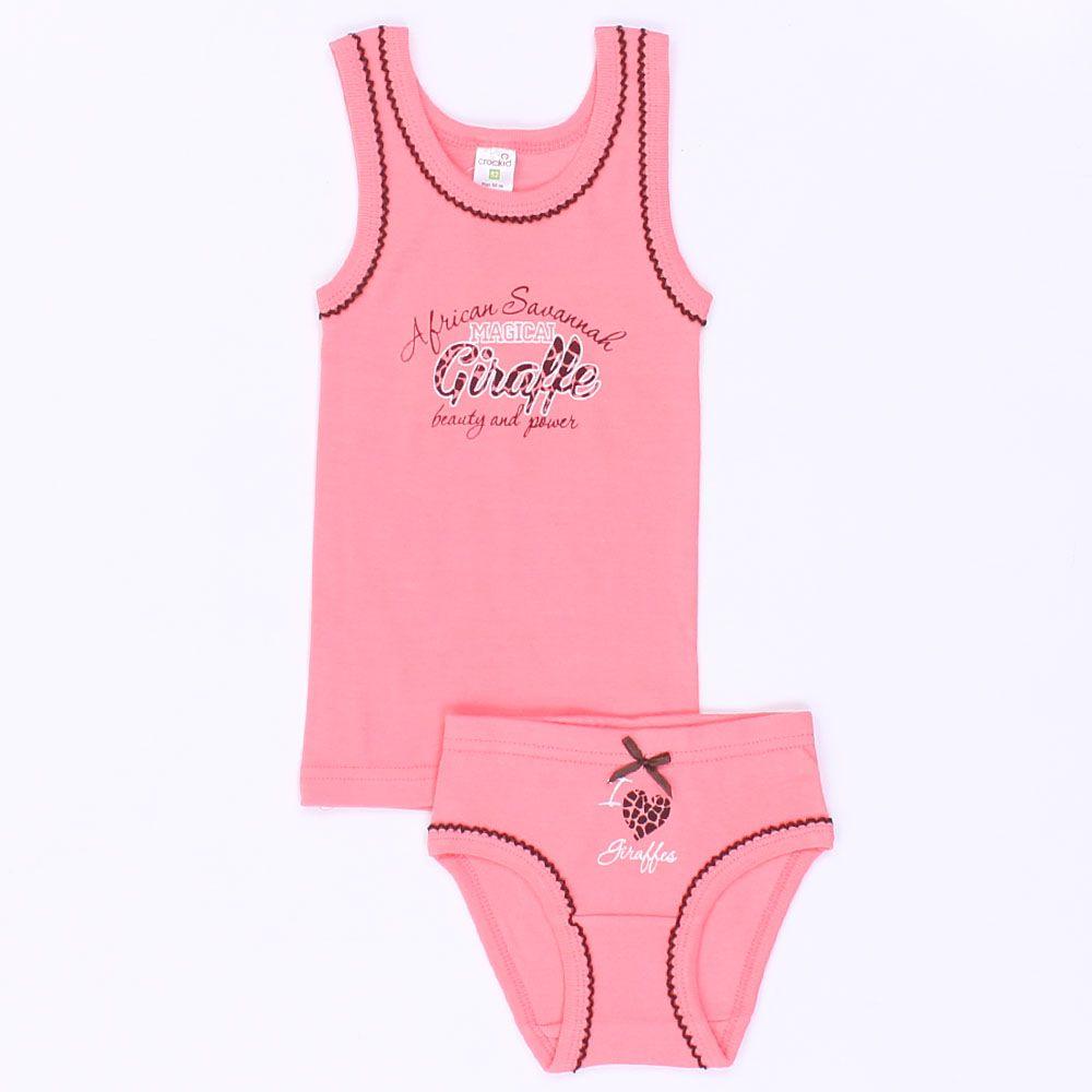 Комплект белья для девочки розовый