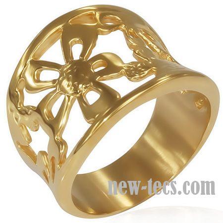 Кольцо с позолотой.  RVRR16911