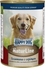 HAPPY DOG Консервы Телятина с сердцем 400г