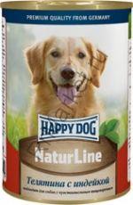 HAPPY DOG  Консервы Телятина с индейкой 400гр