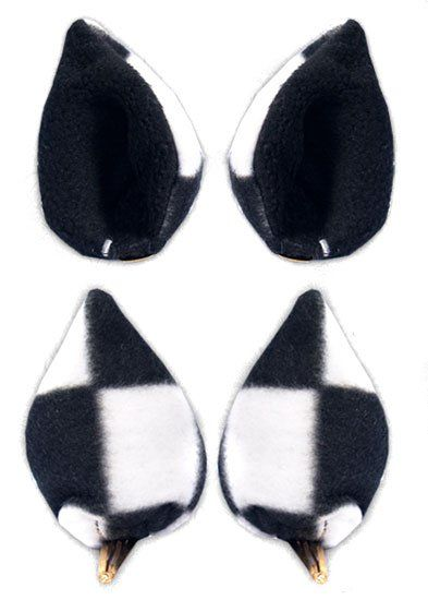 Ушки Sweet Kawaii Clip on Cat Ears - Big Checkered