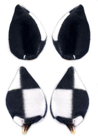 Ушки Sweet Kawaii Clip on Cat Ears - Big Checkered