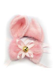 Ушки и бантик на шею розовые