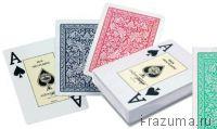 """Карты для покера Пластиковые (100% пластик) """"Fournier"""""""