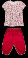 Комплект для девочки из майки с коротким рукавом и бридж