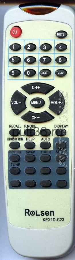 Пульт ДУ Rolsen KEX 1D-C23, K10N-C1, KEX1D-C6
