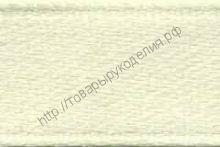 лента атластная 12мм цвет молочный