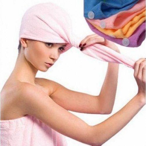 Шапочки-полотенце для сушки волос из микроволокна после душа Turbie Twist (2 шт. в комплекте)